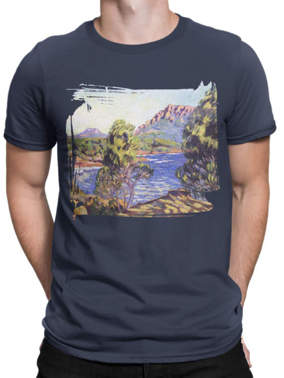 1341 Armand Guillaumin T Shirt Agay the Bay during the Mistral Front Man