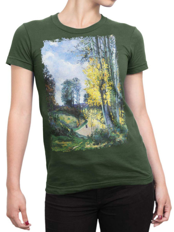 1348 Armand Guillaumin T Shirt Tall Trees in Autumn Front Woman