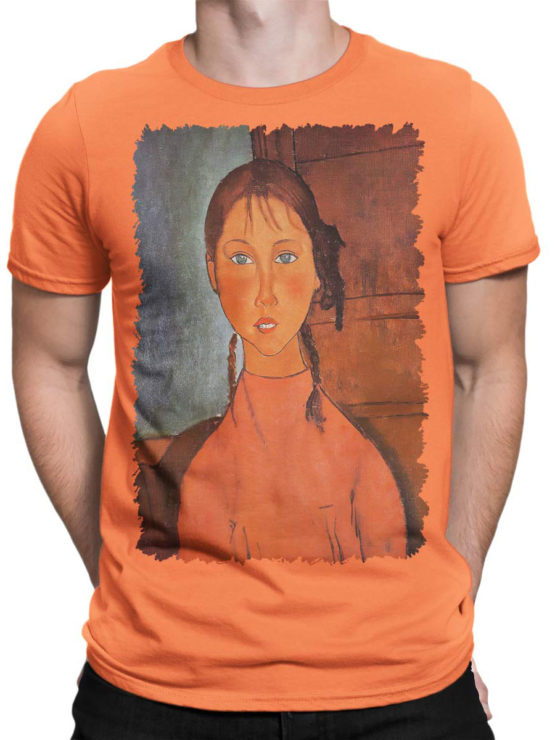 1366 Amedeo Modigliani T Shirt Girl with Pigtails Front Man