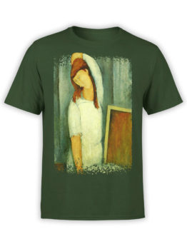 1367 Amedeo Modigliani T Shirt Portrait of Jeanne Hebuterne Front