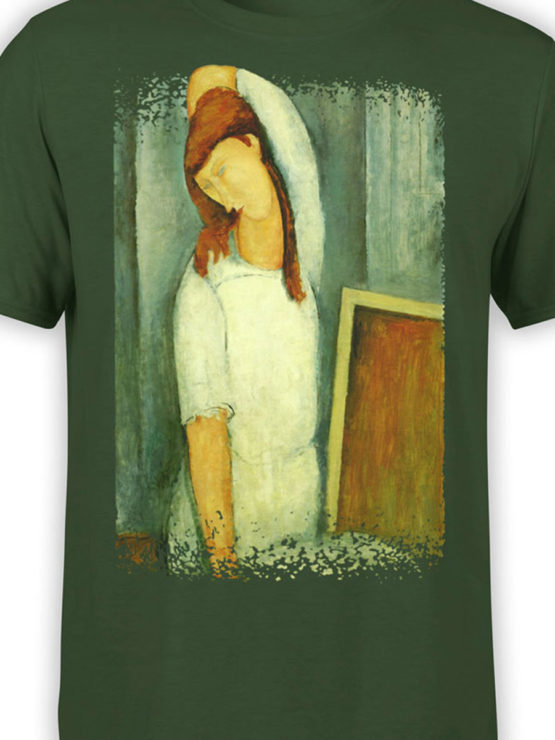 1367 Amedeo Modigliani T Shirt Portrait of Jeanne Hebuterne Front Color