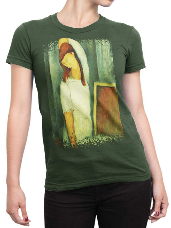 1367 Amedeo Modigliani T Shirt Portrait of Jeanne Hebuterne Front Woman
