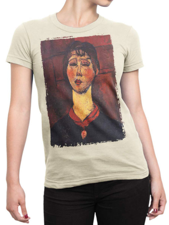 1368 Amedeo Modigliani T Shirt Madame Dorival Front Woman