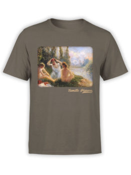 1381 Camille Pissarro T Shirt Bathers Seated on the Banks of a River Front