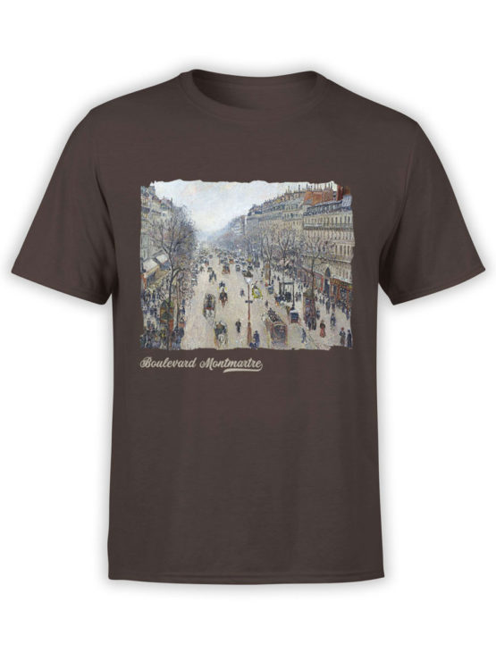 1382 Camille Pissarro T Shirt Boulevard Montmartre Morning Front