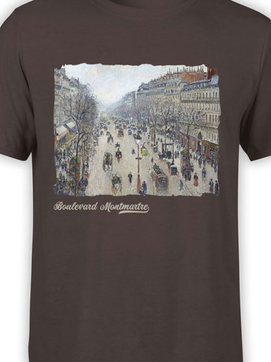 1382 Camille Pissarro T Shirt Boulevard Montmartre Morning Front Color