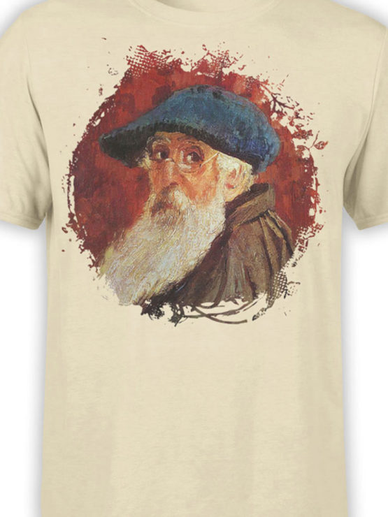 1386 Camille Pissarro T Shirt Self Portrait Front Color