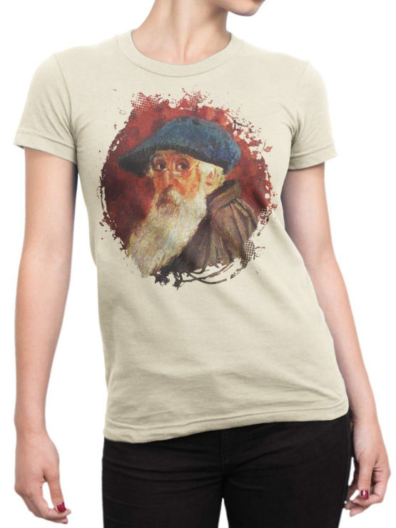 1386 Camille Pissarro T Shirt Self Portrait Front Woman