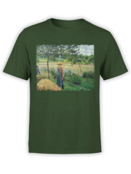 1389 Camille Pissarro T Shirt Grey Weather Morning with Figures Front